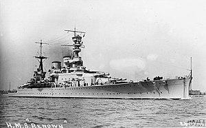 THE ROYAL NAVY IN THE FIRST WORLD WAR (Q 75273) Battlecruiser HMS Renown. Copyright: © IWM. Original Source: http://www.iwm.org.uk/collections/item/object/205320060
