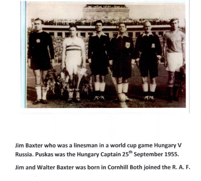 Jim Baxter Linsman standing next to Puskas