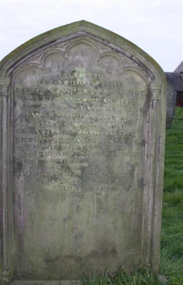 Old Churchyard -  Row 11 -  South - Lowrie/Arnot