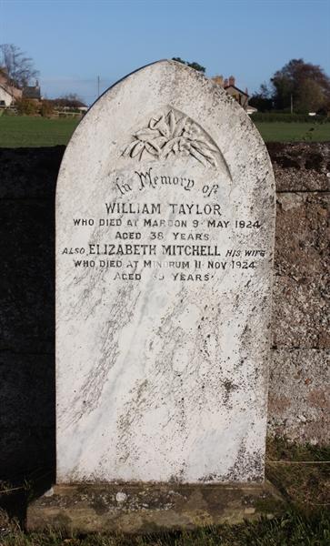 New Churchyard - Row 1 - Taylor/Mitchell
