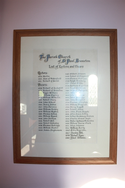 Branxton Vicars