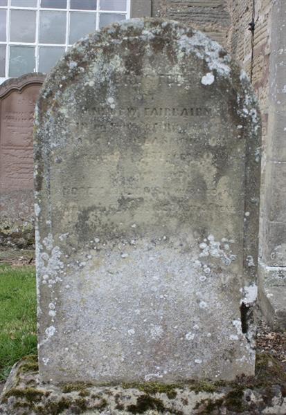 Section A Left hand side of Church door - Fairbairn/Douglas