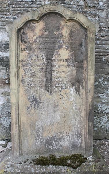 Section A Left hand side of Church door  - 3 - Jeffrey/Robertson