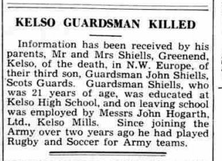Shiels newspaper cutting Souther Reporter