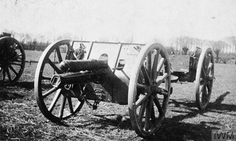 'E' BATTERY, ROYAL HORSE ARTILLERY, 1914-1919 (HU 81073) 13 pounder QF field gun of 'E' Battery, Royal Horse Artillery. This particular gun fired the first British round of the First World War. Photograph probably taken at Cologne where the battery served with the Army of Occupation. Copyright: © IWM. Original Source: http://www.iwm.org.uk/collections/item/object/205088776