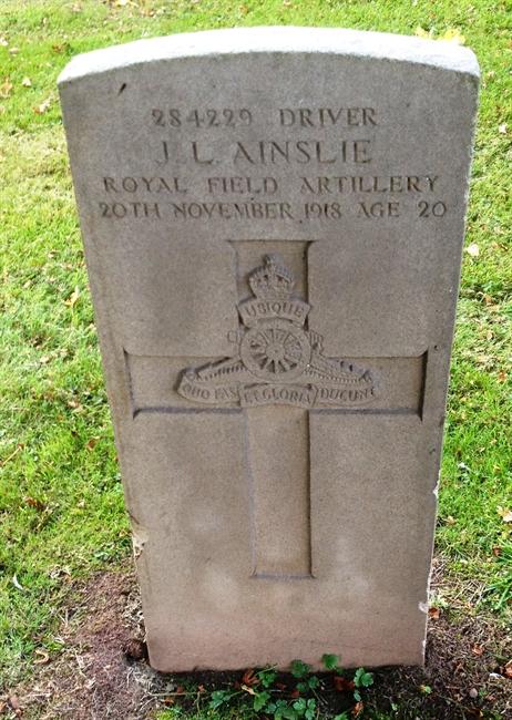 Driver James Ainslie