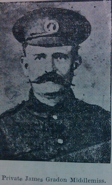Private James Gradon Middlemiss