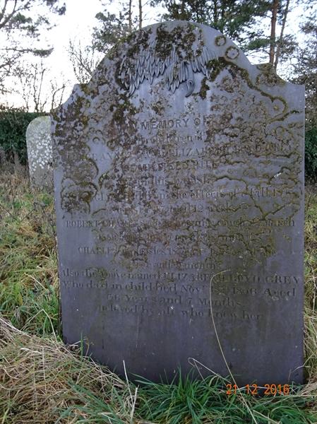 Kirknewton Churchyard Section B Row 8 - 18 - Grey