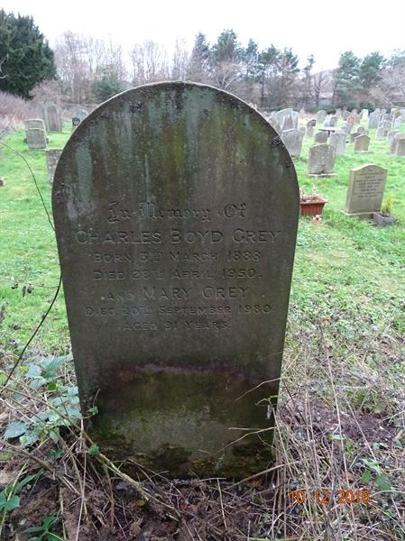 Kirknewton Churchyard Section A  Row 1 - 3 - Grey