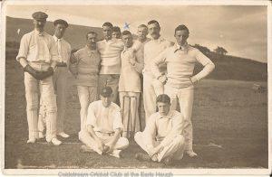"""Coldsteam Cricket Club at the Earls Haugh  """"The Haugh is below Ladies Field West of the Lees"""""""