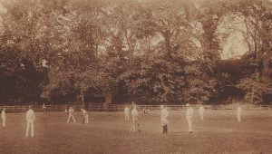 Earls Haugh Cricket Match about 1890. The Earls cricket pitch was about 1/2 mile outside coldstream on the way to Fireburn Mill