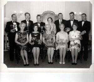 Golf Club Perentation Night Colingwood Arms. L/R M Boyle, W Rae, H Campbell.  ?  M Murray, ?, E Johnstone, J Douglas
