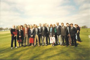 The committee of the Golf Club when the course went to 18 holes. 1994.