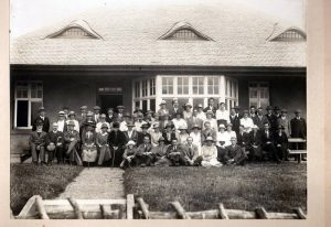 Golf Club 1921  This was when the golf club was at Lennel. The Club House was used as a knitwear factory from the start of the 2nd World War right up to the Seventies.