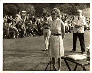 From Left to Right Peter Allis, Duchess of Roxburgh, David lloyd