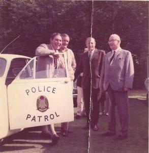 From right left to right John Slater, B Hodgson C I D Berwick, Jim Patterson ( Jus Rol)  David Lloyd. Provost