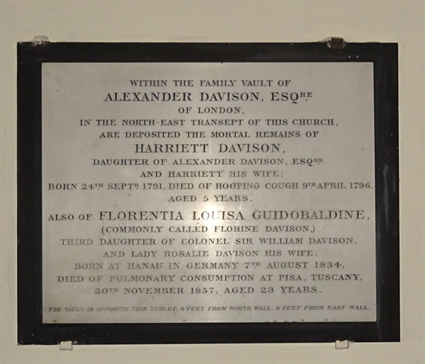 Memorials inside the Church - 14 - Davison