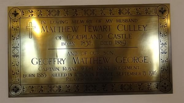 Memorials inside the Church - 5 -Cully