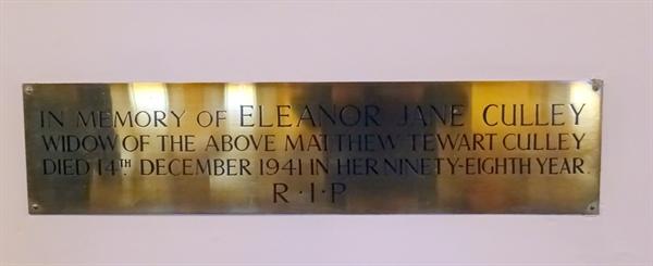 Memorials inside the Church -  11 -  Culley