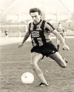 Eric Tait who played for Coldstream befpre playing of Berwick Rangers  many times. He also was manager for a number of years. He was born in Cornhill and worked in Coldstream for many years.  Also a very good badminton player