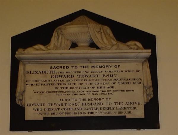Memorials inside the Church - 10  -  Tewert