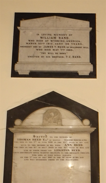 Memorials inside the Church - 12 - Reed/Rand