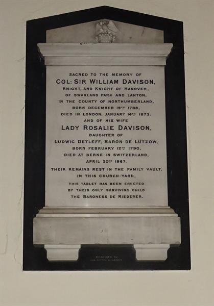 Memorials inside the Church - 13 - Davison