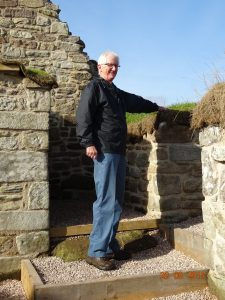 Gerald Tait inside Lennel Kirk after it was finished