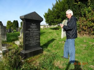 Lennel Kirk Gerald  Tait  near headstone for James Lawrence.