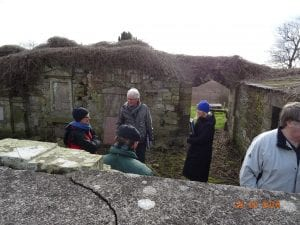 Lennel Kirk  with Historic Scotland personel inspecting the ruin before we started