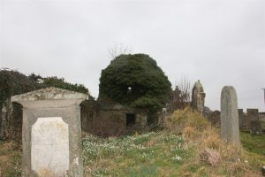 Early 2016 - looking to west end of the kirk with the 1831 mort house and beautiful snowdrops.
