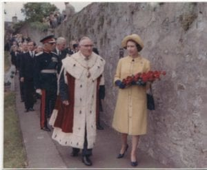 Queens Visit  on the Nuns walk 1960s