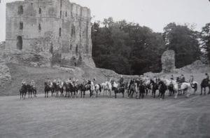 Coldstreamer at Norham Castle