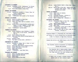 Programme 1953