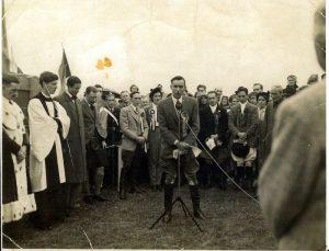 Flodden 1951 Mr Allan lieshman making what we think was the very first Flodden oration.