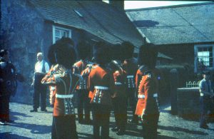 Coldstream Guards playing at Cramond Hill farm 1968