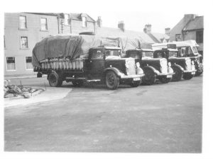 Bibby wagons in the market square