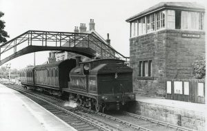 A Train leaving Coldstream Station