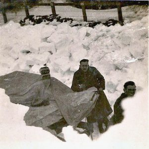 Delivering bread in the winter of 1963