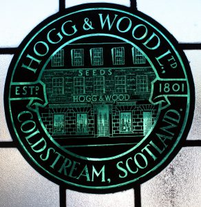 Hogg and Wood stained glass window,1801. (Can now be seen in the Marjoribanks Gallery in the High Street. The building was part of Hog and Wood for many years)