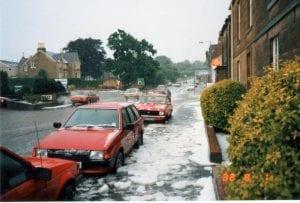 Snow in 1988 Civic Week