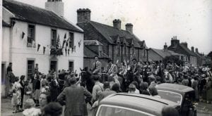 The Coldstream allways got a very warm welcome into Leitholm