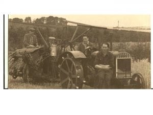 Pre war tractor and binder
