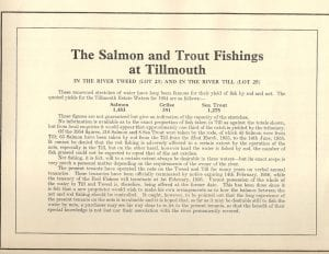 This is a paper for when Tillmouth was sold in 1955  depicting the fishing returns