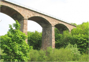 Twizell Viaduct from the river Till
