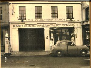 The Coldstream Garage on the High Street. Its now Calico house furnishing.