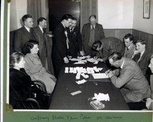 Counting the votes for Coldstreamer 1951