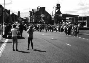 Civic Week 1968 outside Rutherfords garage