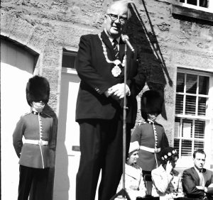 David Lloyd Outside the Coldstream Guards Museum