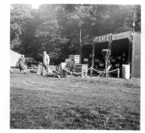 Hogg and Wood trade stand at an agricultural show. Border Union Show perhaps.